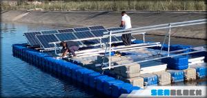 Huerto solar sobre plataformas flotantes